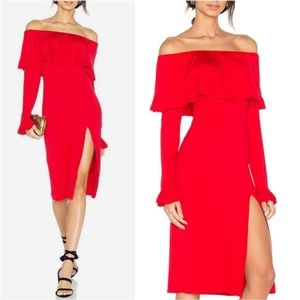 JOY HAN RED DRESS MADE IN THE USA
